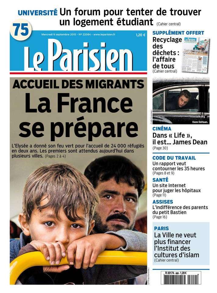 Le Parisien + Journal de Paris du Mercredi 9 Septembre 2015