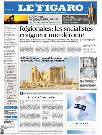 Le Figaro Du Mercredi 2 Septembre 2015