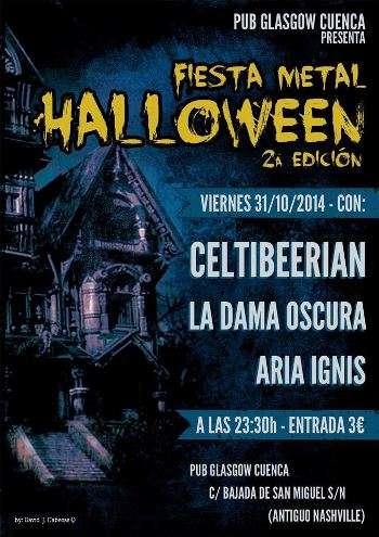 Fiesta Halloween cartel