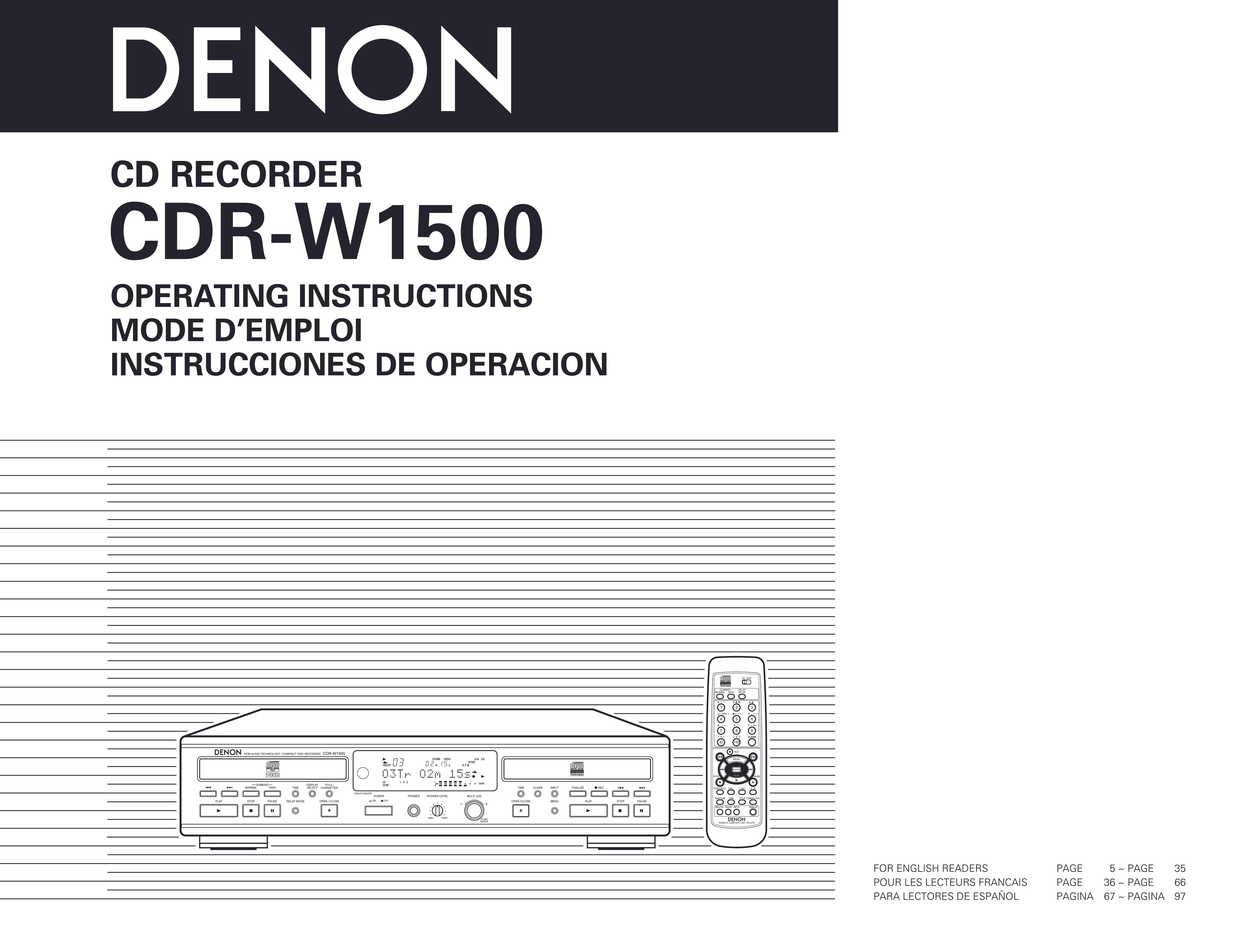 Denon Cdr