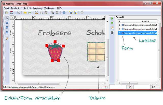 Richtig Bloggen - Imagemaps erstellen - GIMP Tutorial