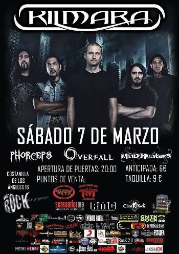 Kilmara en Madrid - cartel