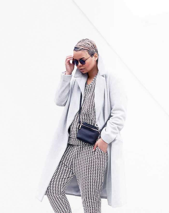 co-ords, matchy matchy ensemble, grey coat, notice, tomboy - justlikesushi.com