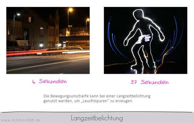 Foto-Kurs - Langzeitbelichtung Lichtmalerei Leuchtspur Bewegungsunschärfe