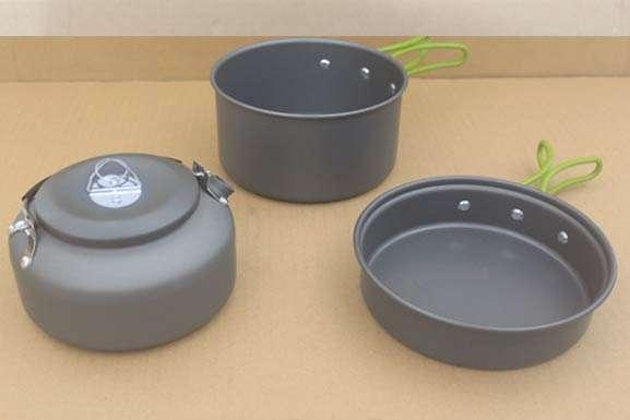 cooking set 3set w/ kettle tipe kecil