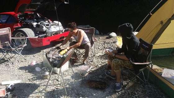 Camping with a Ferrari F40