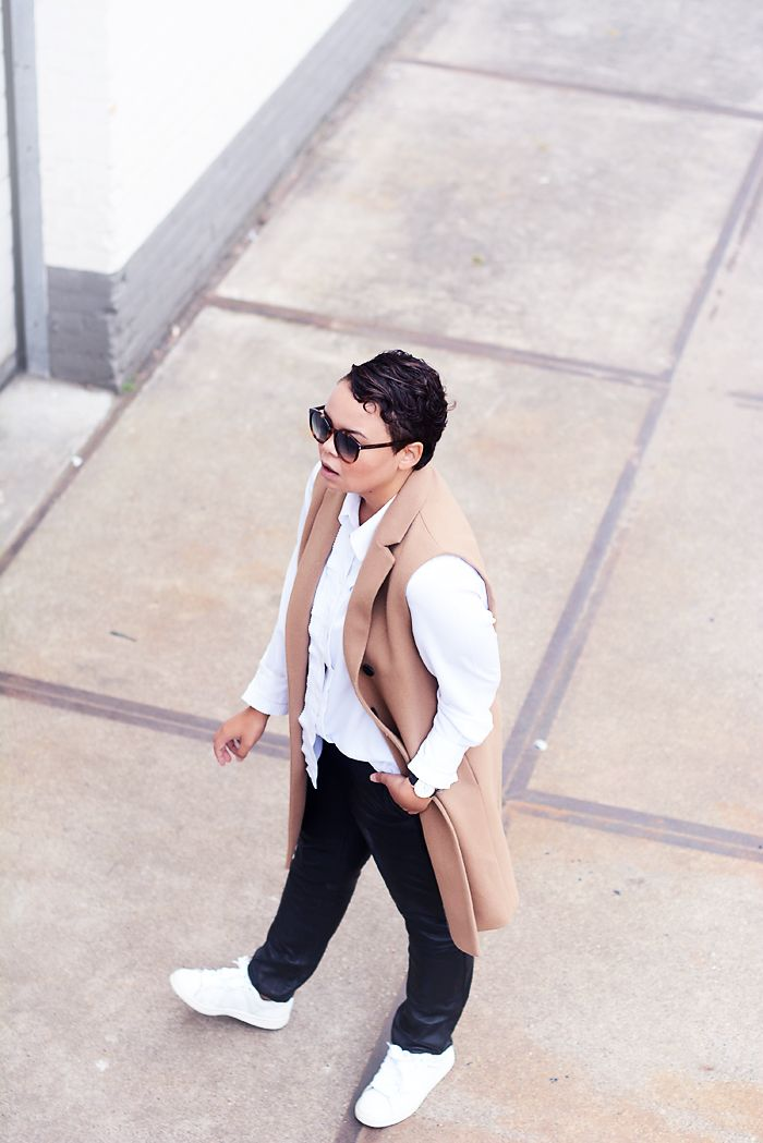 leather trousers / stan smith sneakers / camel coat / ysl sunglasses - justlikesushi.com
