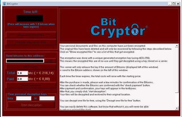 Remove Bit Cryptor virus