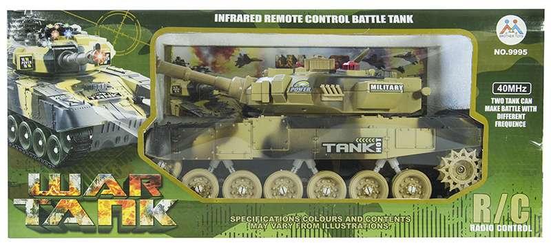 rc panzer mit schussfunktion riesieg 45 cm spielzeug braun. Black Bedroom Furniture Sets. Home Design Ideas