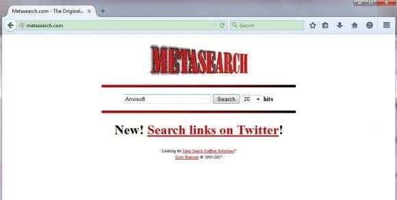 Verwijder MetaSearch.com
