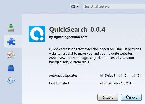 Remove QuickSearch 0.0.4