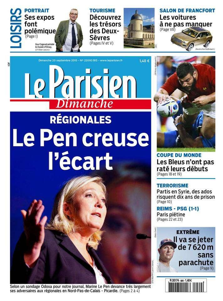 Le Parisien + Le Guide de votre Dimanche 20 Septembre 2015