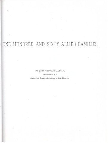 One hundred and sixty allied families, Austin, John Osborne