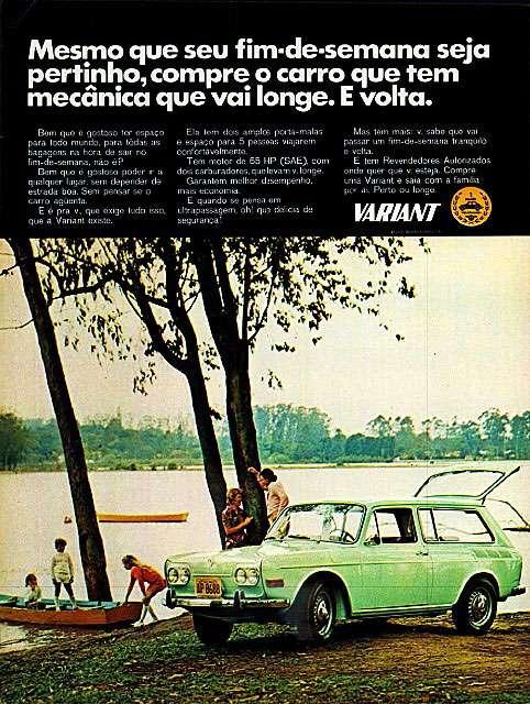 Mesmo que seu fim de semana seja pertinho, compre o carro que tem mecânica que vai longe. E volta. Volkswagen Variant.