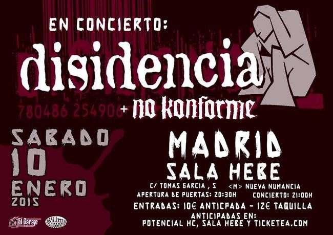 Disidencia + No Konforme Madrid Cartel