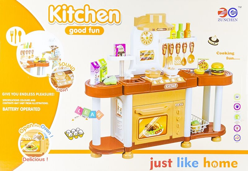 Just Like Home Toy Appliances : Big realistic roleplay kitchen set just like home toys
