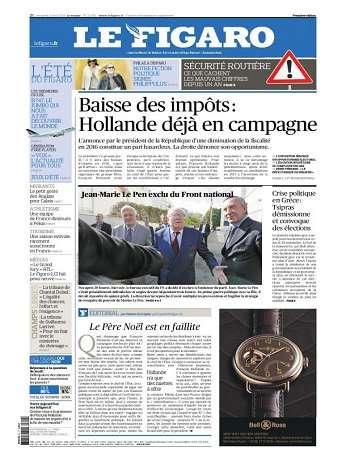 Le Figaro Du Mardi 25 Août 2015