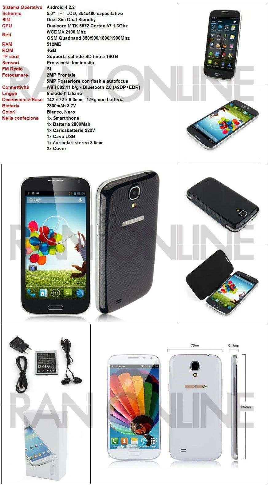Telefono s4 smartphone 5 in wifi 3g gps dual sim android for Camera dei deputati telefono