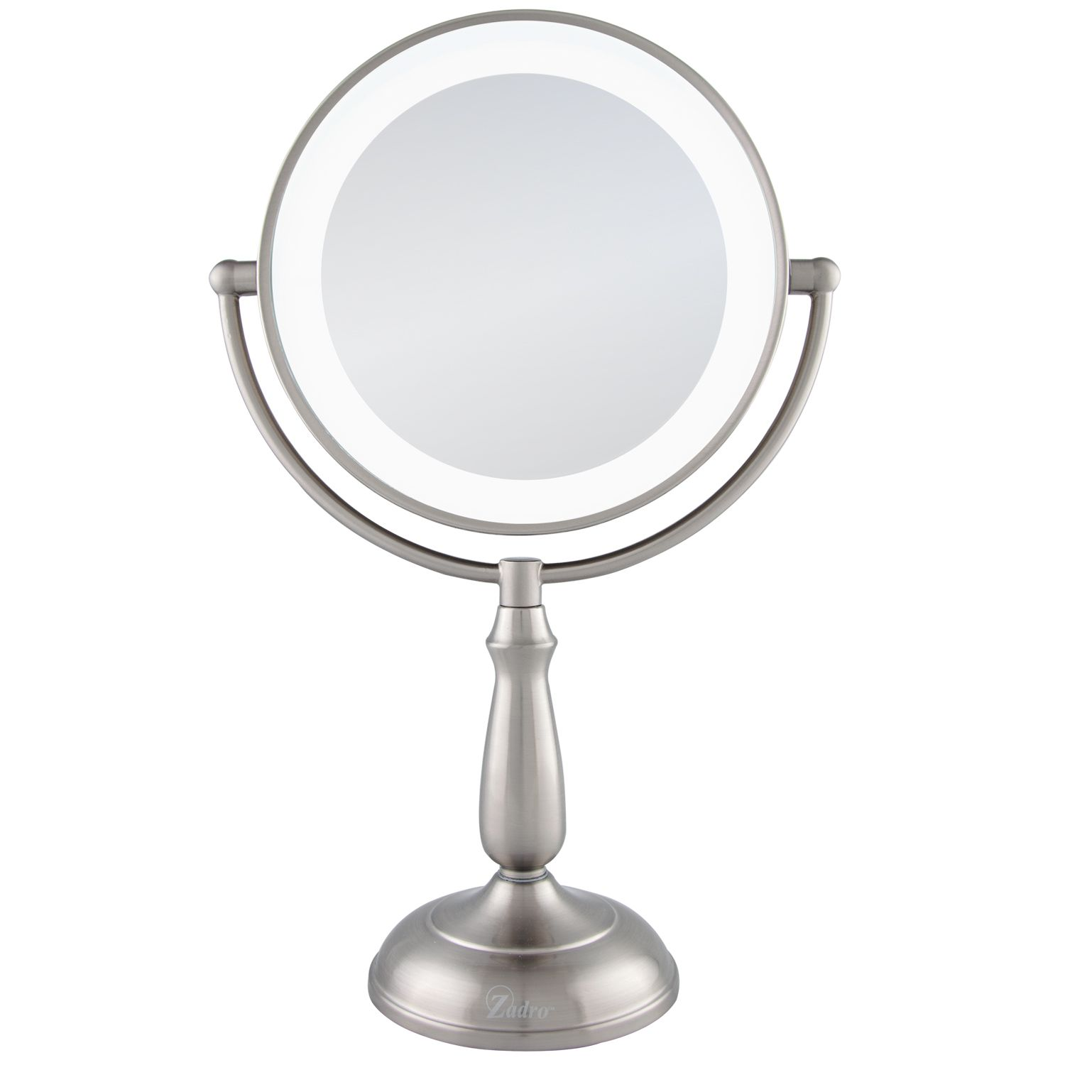 Zadro LEDVPRT412 12x/1x Satin Nickel Ultra Bright LED Lighted Touch Vanity Mirror at Sears.com