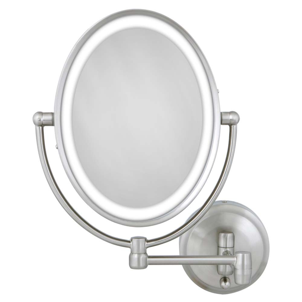 Zadro LOVLW410 10X/1X Satin Nickel Oval LED Lighted Wall Mirror at Sears.com