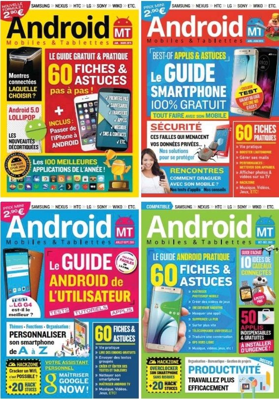 Android Mobiles et Tablettes - Collection Complète 2015