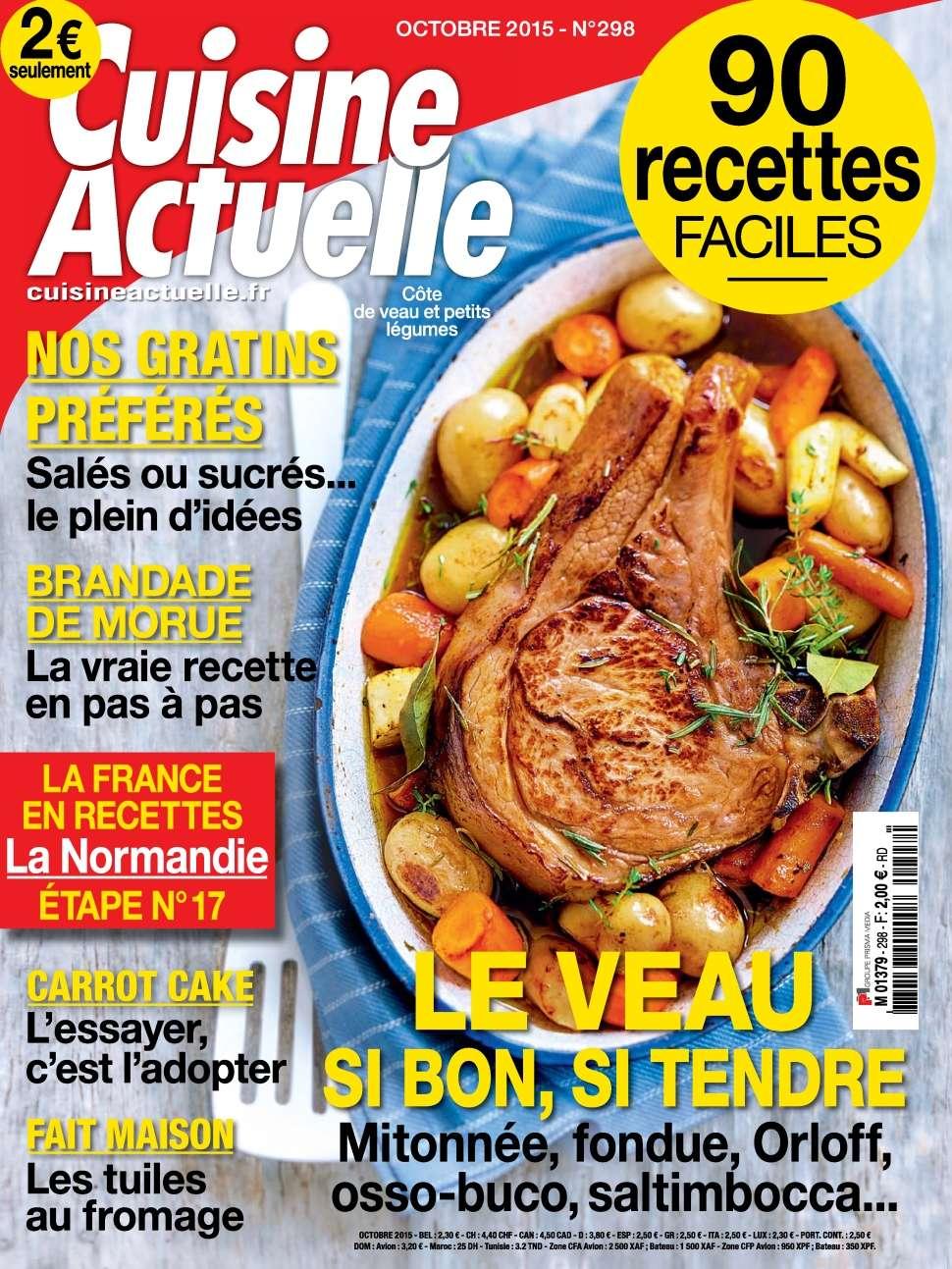 Cuisine Actuelle 298 - Octobre 2015