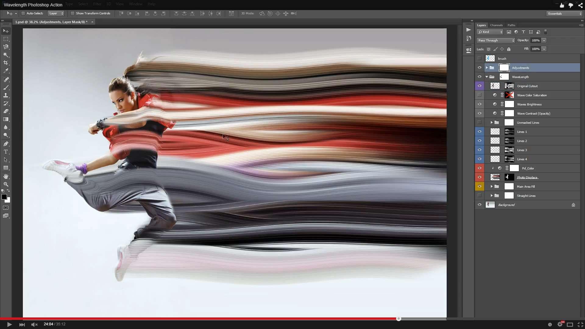 Wavelength Photoshop Action