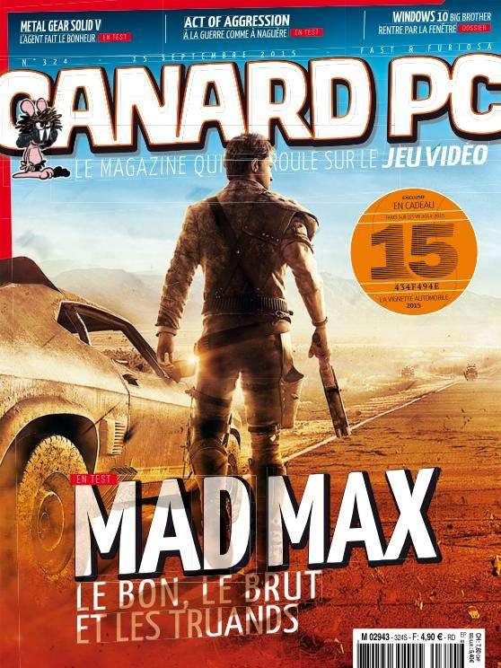 Canard PC 324 - 15 Septembre 2015