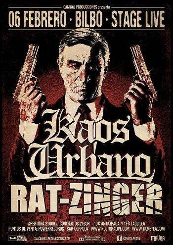 Kaos Urbano y Rat-Zinger cartel