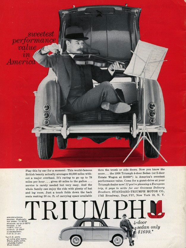 Triumph. Sweetest performance value in America.
