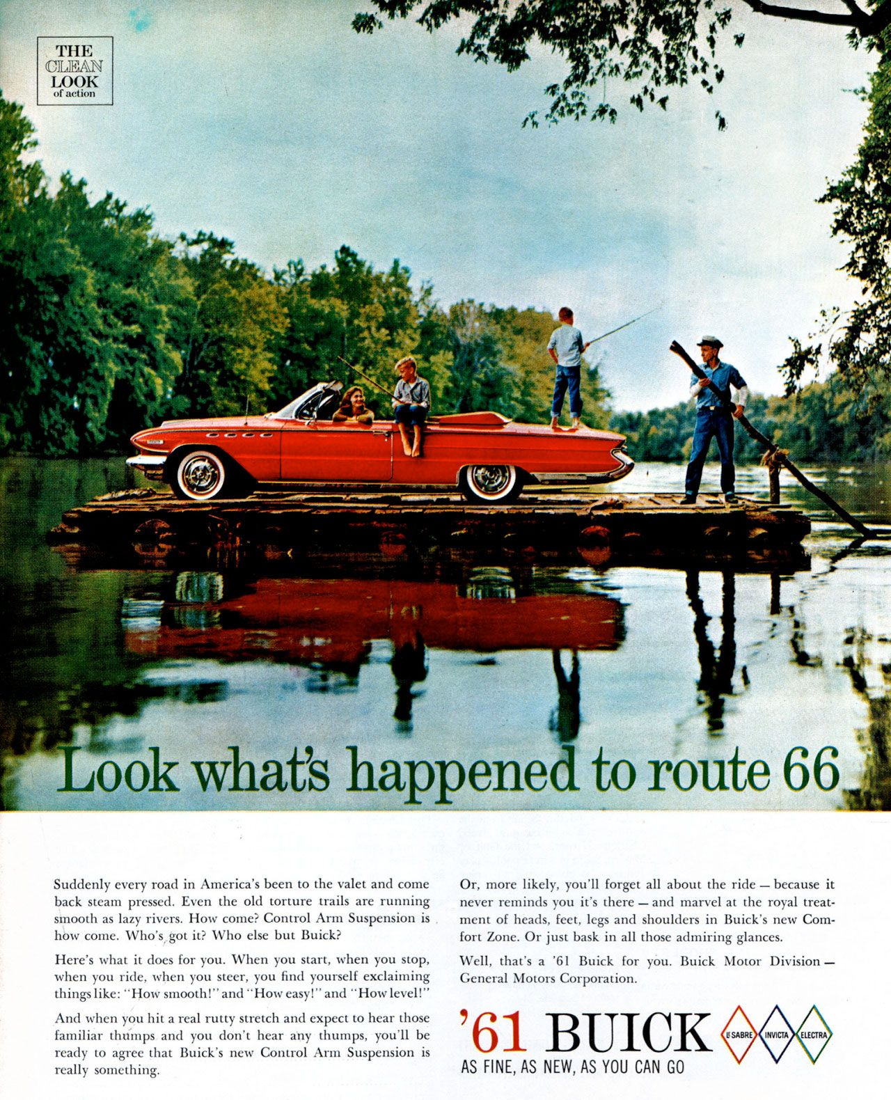 Look what's happened to Route 66. The 1961 Buick. As fine, as new, as you can go.