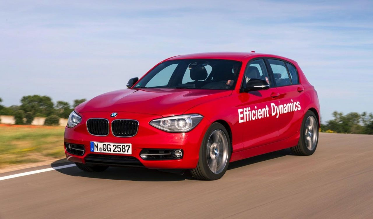 Prototype BMW 1-Series 218 PS direct water injection 1.5-liter engine