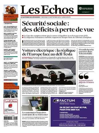 Les Echos Du Mercredi 16 Septembre 2015
