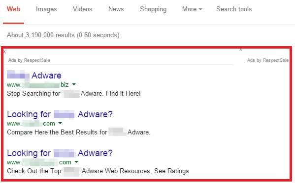Remove Ad by Respect Sale