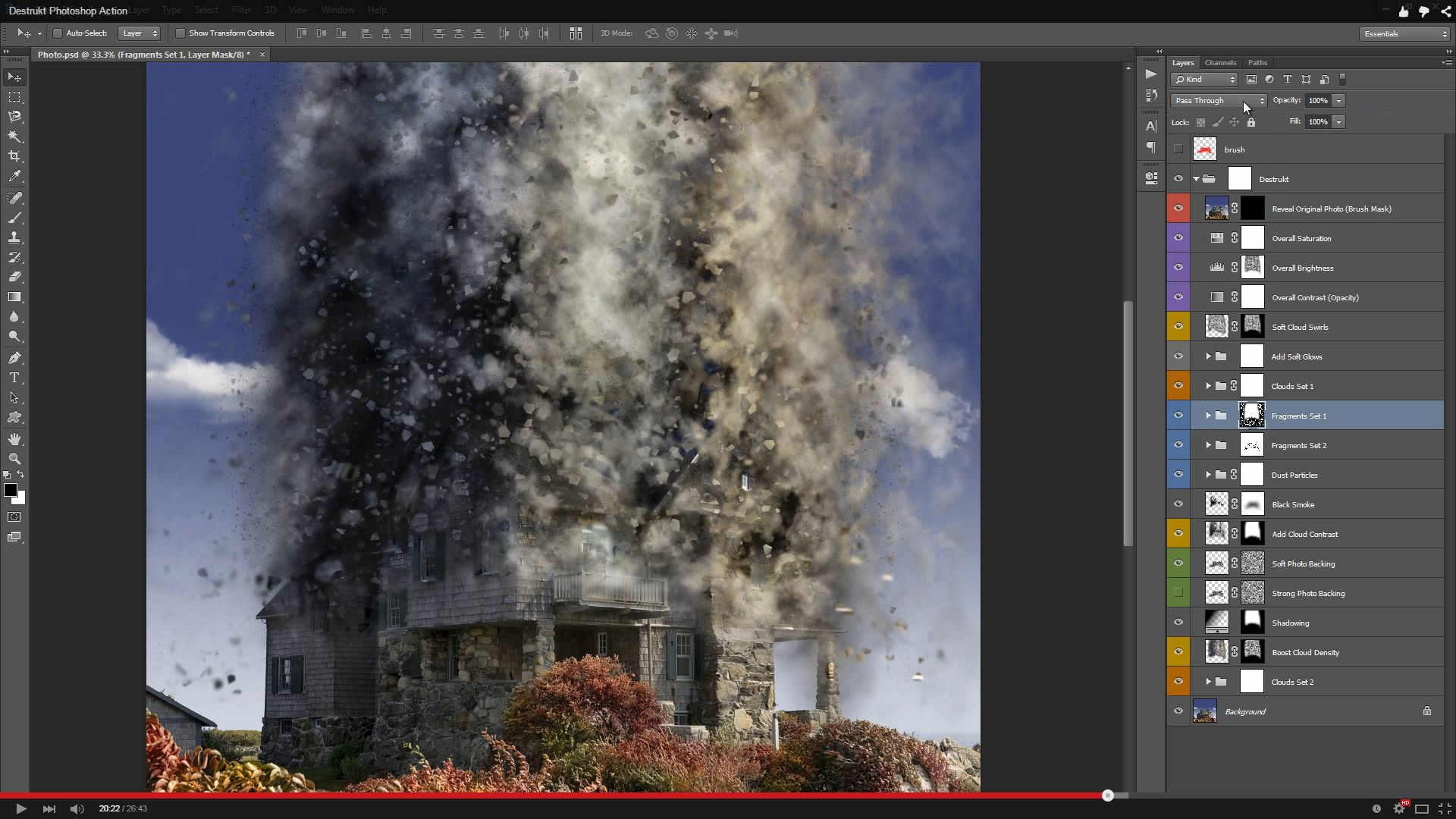 Destrukt Photoshop Action