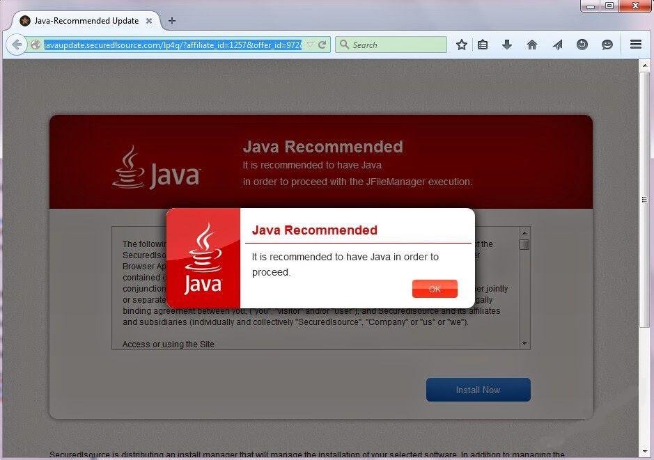 Remove JavaUpdate.securedlsource.com