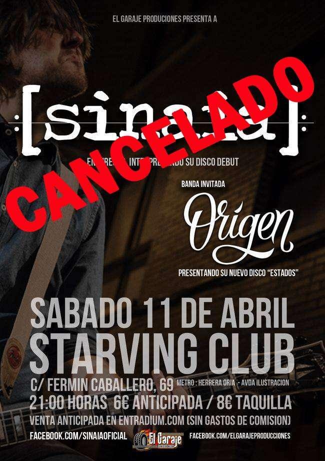 Cancelación Sinaia + Origen