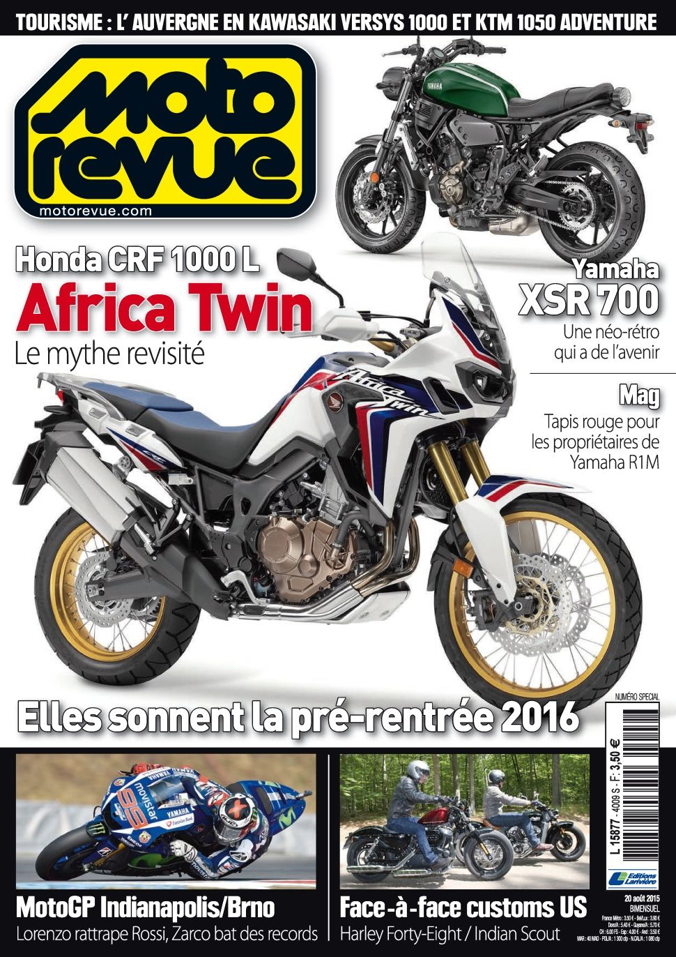Moto Revue 4009 - 20 Août 2015