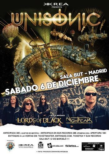 Unisonic Madrid cartel