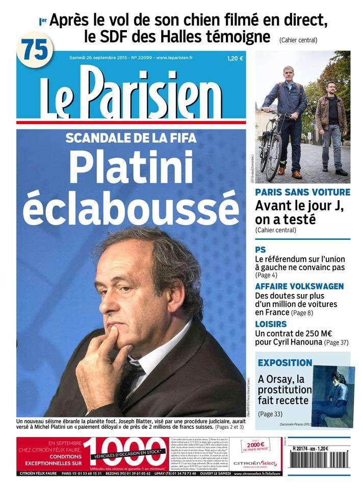 Le Parisien + Journal de Paris du Samedi 26 Septembre 2015