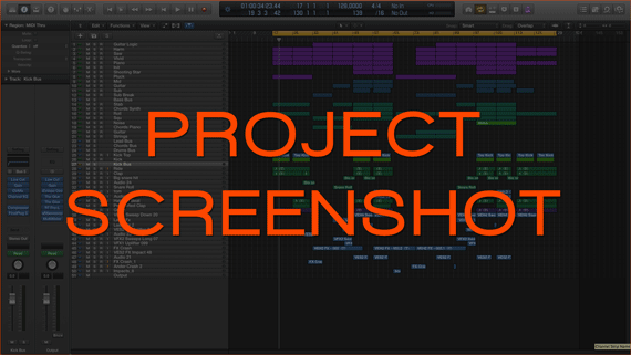 Logic Pro Template / Project Screenshot Preview