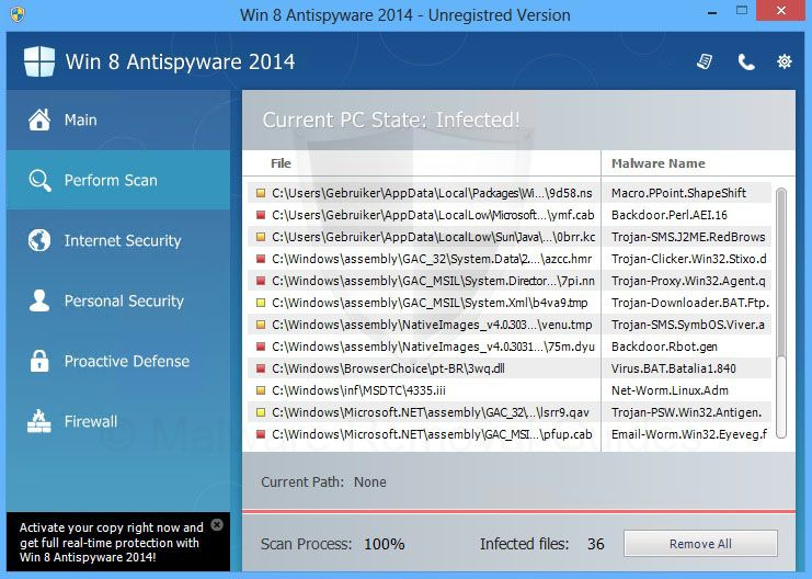 Remove Win 8 Antispyware 2014