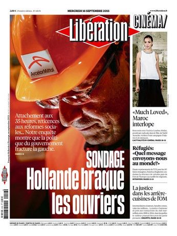 Liberation Du Mercredi 16 Septembre 2015
