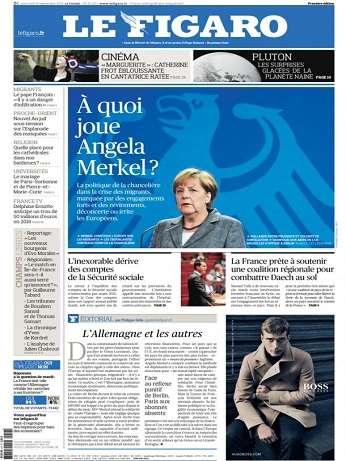 Le Figaro du Mercredi 16 Septembre 2015
