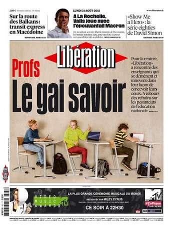 Liberation Du Lundi 31 Aout 2015