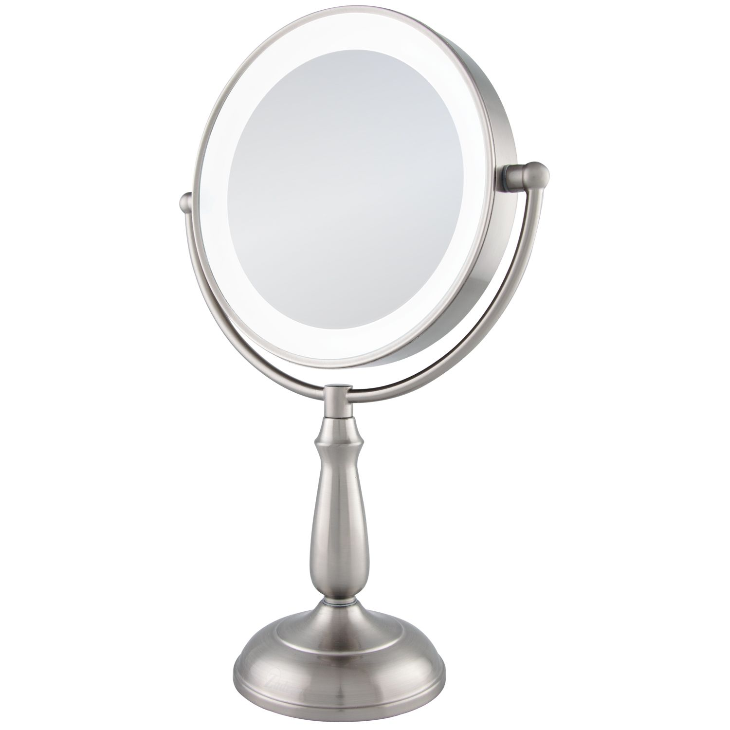 Zadro LEDVPRT410 10X/1X Satin Nickel Ultra Bright LED Lighted Touch Vanity Mirror at Sears.com