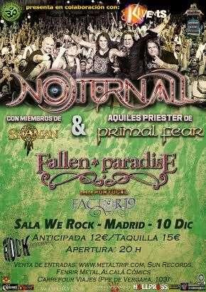 Noturnall en Madrid. Cartel