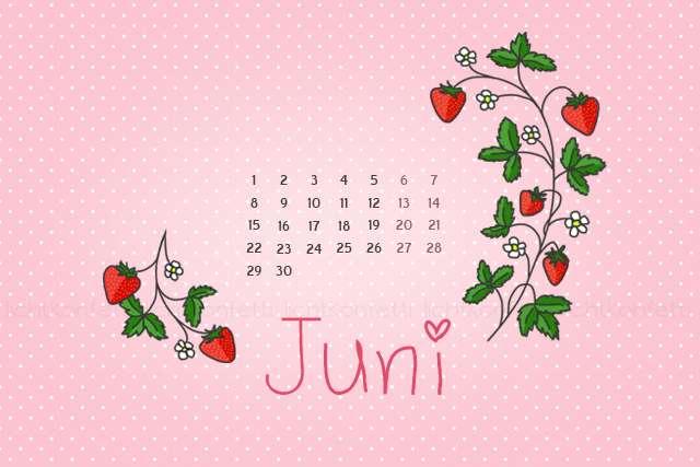 Wallpaper Juni 2015 - Erdbeeren