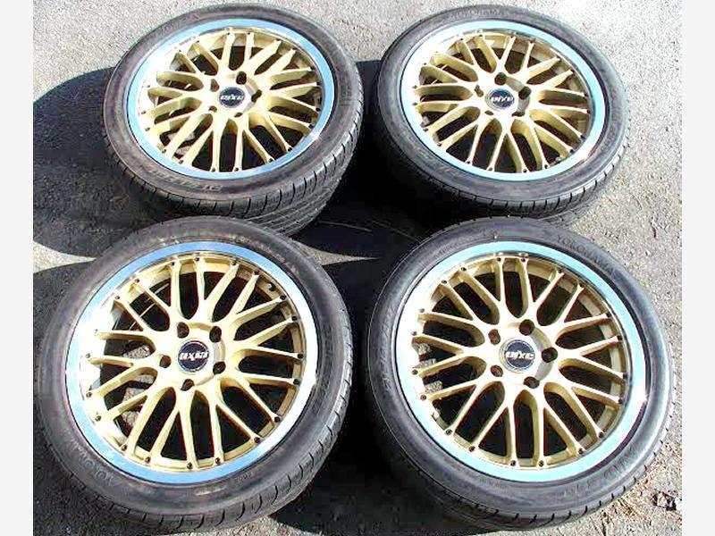 AXIA HINODEX 17 7J 5x114 alloy wheels rims Impreza GDB RX7 180sx