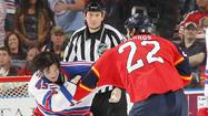 Panthers play spoiler in wild 3-2 win over desperate Rangers
